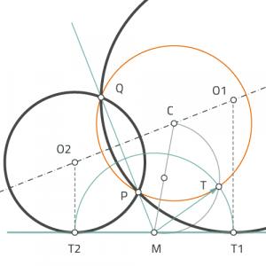 Circunferencias tangentes a rectas