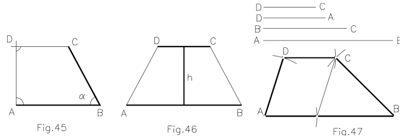 Construcción de trapecios