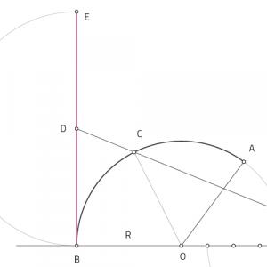 Rectificación de arcos y circunferencias. Dibujotecni.com