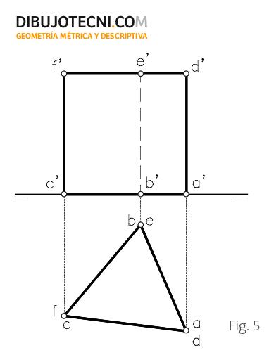 Prisma recto con la base contenida en el plano horizontal de proyección.