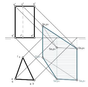 Sistema Diédrico Ortogonal. Sombras. Foco impropio.