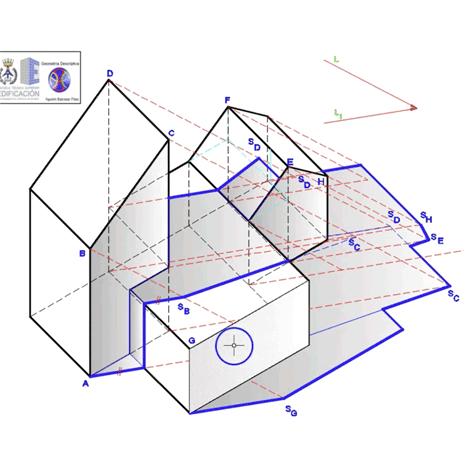 Sombra de una edificación en el Sistema Axonométrico