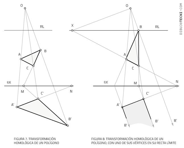 Transformación homológica de un polígono