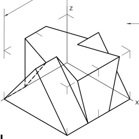 Vistas de 1 pieza a partir de perspectiva isométrica
