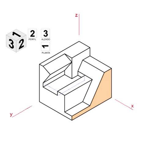 Vistas de una pieza en Isométrico - Animación 3D