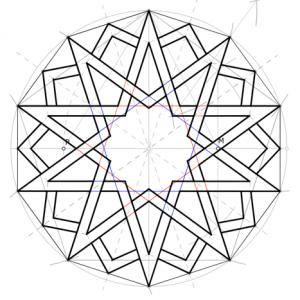 Estrella con polígonos estrellados