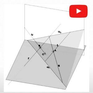 Sistema Diédrico. Mínima distancia entre dos recta que se cruzan