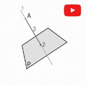 Diédrico. distancia punto a plano