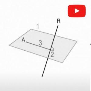 Sistema Diédrico. Distancia punto a recta