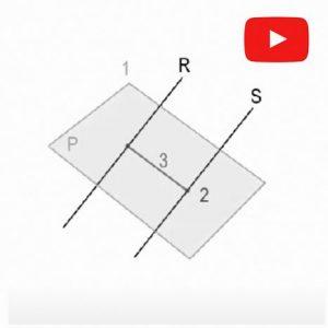 Sistema Diédrico. Distancia recta a recta