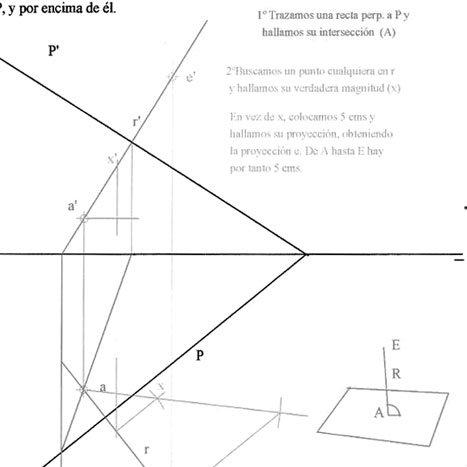 Sistema Diédrico. Ejercicios resueltos de distancias