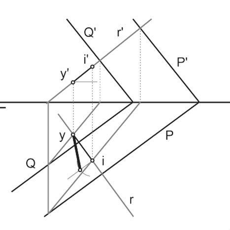 Sistema Diédrico. Láminas con ejercicios de distancias. Destacada