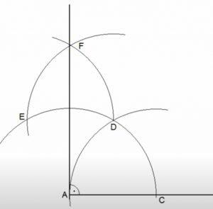 Recta perpendicular a un segmento por un extremo
