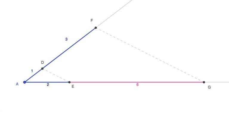 Teorema de tales. Multiplicación segmentos